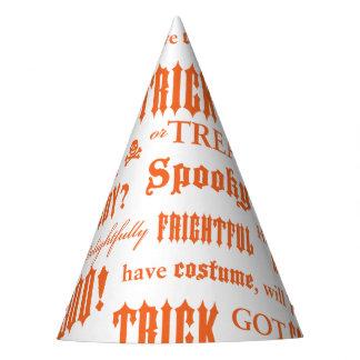 Gorra anaranjado del fiesta de las palabras de