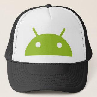 Gorra androide del camionero que mira a escondidas
