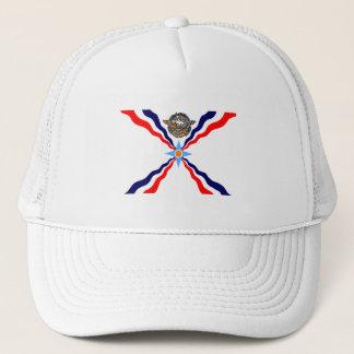 Gorra asirio del camionero de la bandera