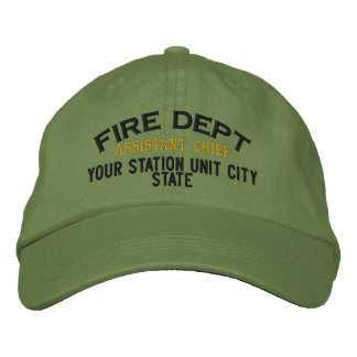 Gorra auxiliar del bombero de Personalizable Gorra De Béisbol Bordada