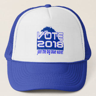 Gorra azul del camionero de la onda del VOTO 2018