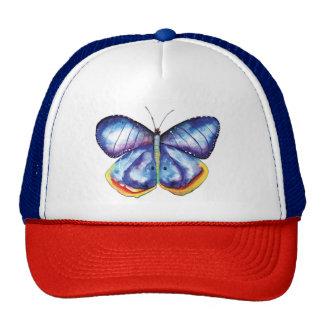 Gorra azul del camionero de la pintura del arte de