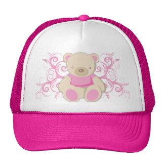Gorra azul del casquillo del oso de peluche