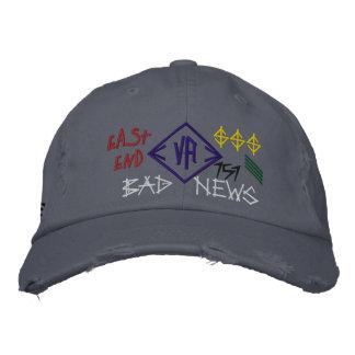 Gorra azul del casquillo del perfil bajo de las