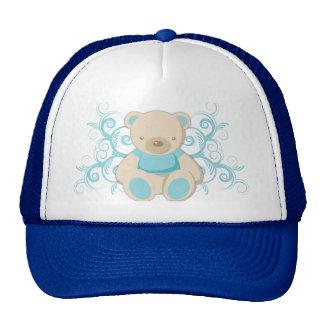 Gorra azul del oso de peluche