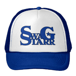 Gorra azul y blanco de Starr del Swag