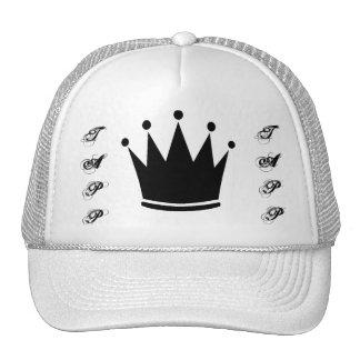 Gorra blanco de la corona de Tapp