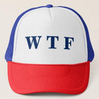 Gorra blanco de los E.E.U.U. WTF y azul rojo del