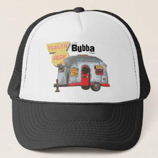 Gorra blanco del camionero de la basura del