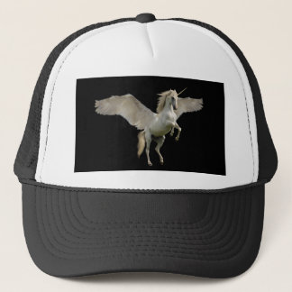 Gorra blanco del camionero de Pegaso del unicornio