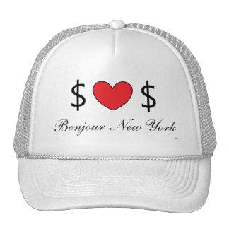 Gorra blanco del camionero del chica del dólar de