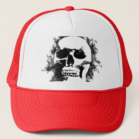 gorra blanco del cráneo