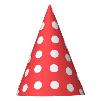 Gorra blanco grande del fiesta de los puntos de la