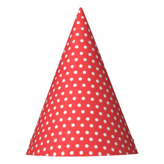 Gorra blanco minúsculo del fiesta de los puntos de