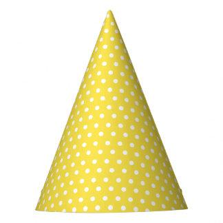 Gorra blanco minúsculo del fiesta del punto de la
