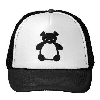 Gorra blanco negro del oso de peluche