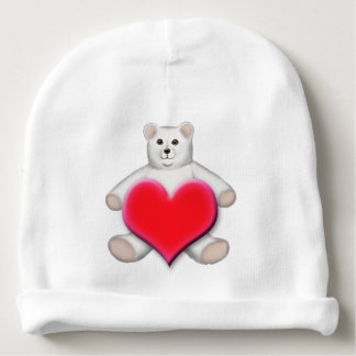Gorra blanco polar del bebé del oso de peluche gorrito para bebe