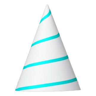 Gorra blanco resumido azul ciánico del fiesta del