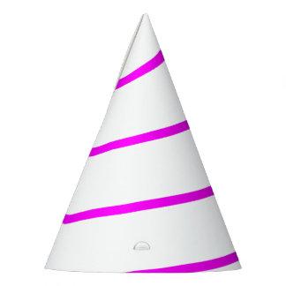 Gorra blanco resumido rosa del fiesta del cuerno