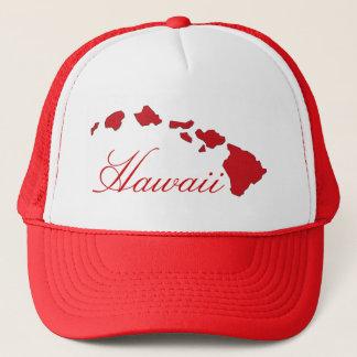 Gorra blanco rojo de las islas de Hawaii