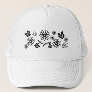 Gorra blanco y negro de la margarita