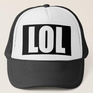 Gorra blanco y negro de LOL