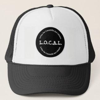 Gorra blanco y negro del camionero de L.O.C.A.L