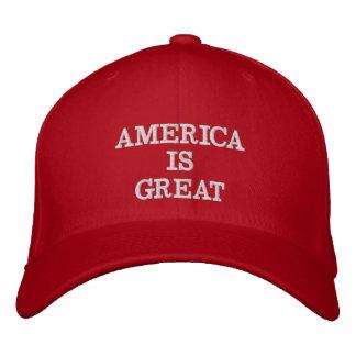 Gorra Bordada América es grande