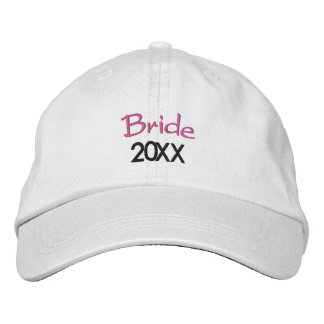 Gorra Bordada Año en curso 20XX de la novia