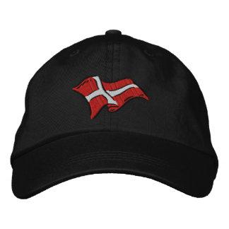 Gorra Bordada Bandera de Dinamarca de la bandera de Dinamarca