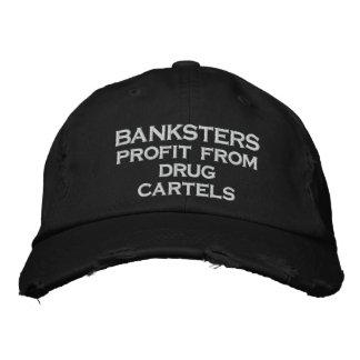 Gorra Bordada Beneficio de BANKSTERS de cárteles de la droga