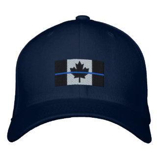 Gorra Bordada Blue Line fino en bandera canadiense