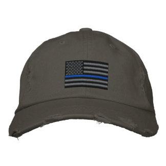 Gorra Bordada Blue Line fino simbólico en los E.E.U.U. señala