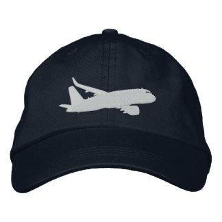 Gorra Bordada Bordado del vuelo de la silueta del jet del avión