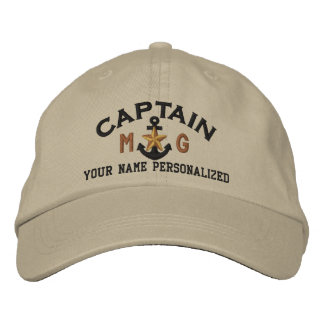Gorra Bordada Capitán personalizado Nautical Star Anchor de las