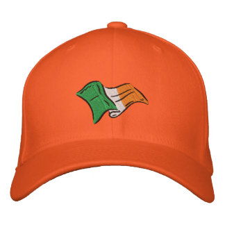 Gorra Bordada Casquillo anaranjado irlandés de Eire de la
