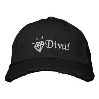 Gorra Bordada casquillo bordado diva bling elegante del diamante