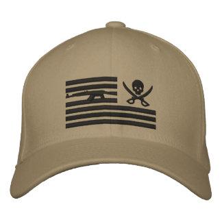 Gorra Bordada Casquillo de color caqui del operador del pirata