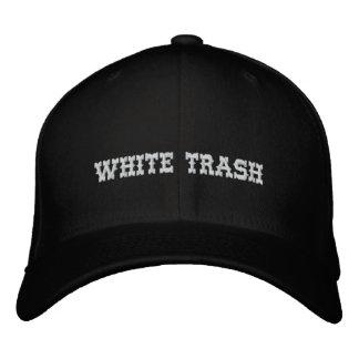 Gorra Bordada Casquillo de la basura blanca
