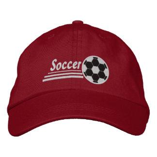 Gorra Bordada Casquillo/gorra bordados del fútbol