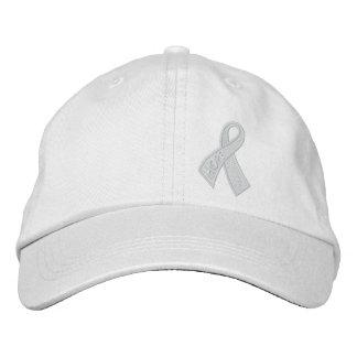Gorra Bordada Conciencia de la cinta del cáncer de la esperanza