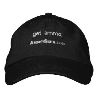 Gorra Bordada Consiga el casquillo del logotipo de AmmoSeek de