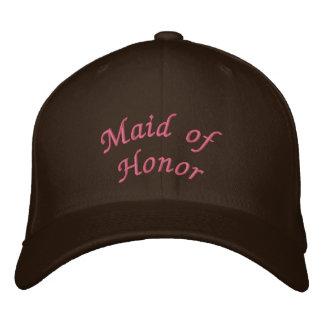 Gorra Bordada Criada del KRW del rosa de la escritura del honor