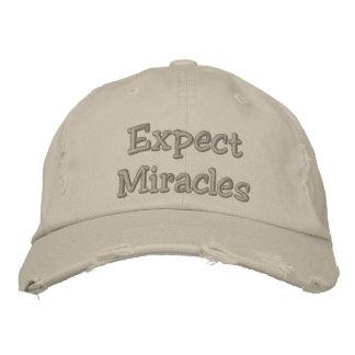Gorra Bordada Cuente con los milagros