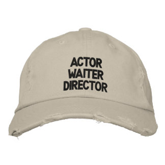 Gorra Bordada Director La La Land Hat del camarero del actor
