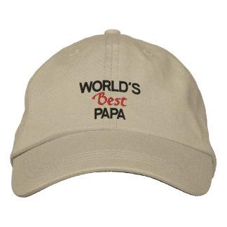 Gorra Bordada El casquillo bordado la mejor papá del mundo