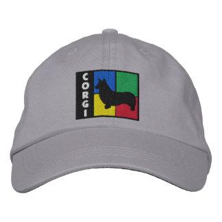 Gorra Bordada El color ajusta el Corgi Galés del Pembroke