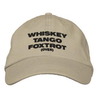 Gorra Bordada El tango del whisky Foxtrot (encima)