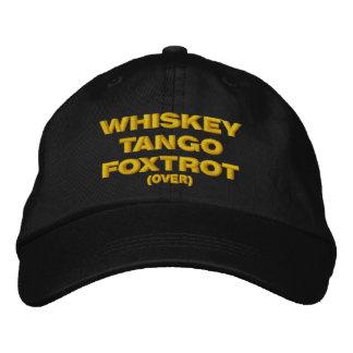 Gorra Bordada El whisky, el tango, Foxtrot (encima)