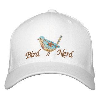 Gorra Bordada Empollón del pájaro [pájaro del arte popular]